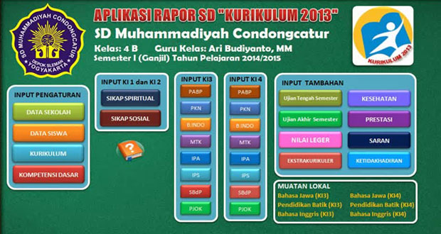 DOWNLOAD APLIKASI RAPORT MADRASAH IBTIDAIYAH KURIKULUM 2013 KELAS 1 2 3 4 5 6